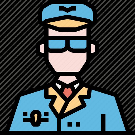 avatar, man, people, pilot, uniform icon
