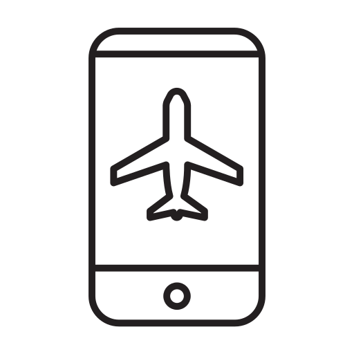 air, airline, airplane, airport, airship, booking, mobile icon