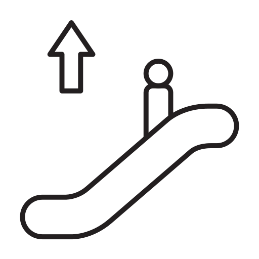 air, airline, airplane, airport, airship, elevator icon
