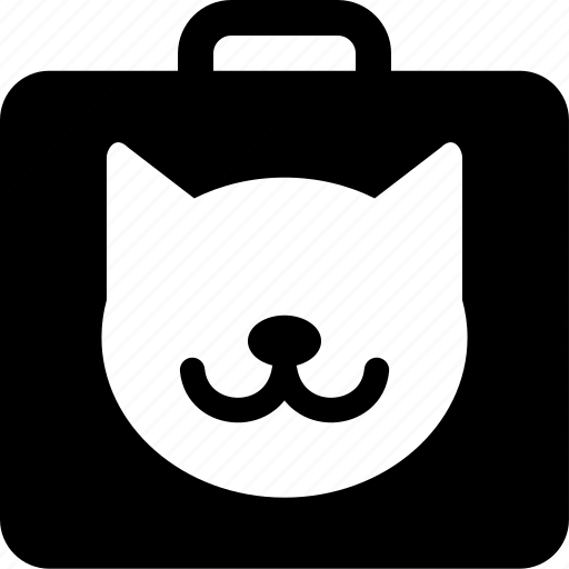 animal, bag, cat, luggage, pet, suitcase, travel icon