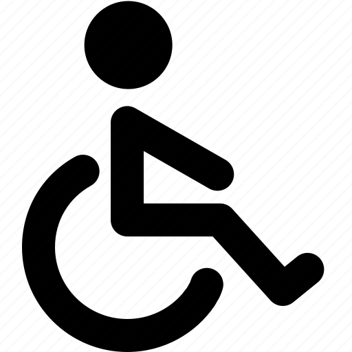 chair, disability, disabled, handicap, handicapped, invalid, wheelchair icon