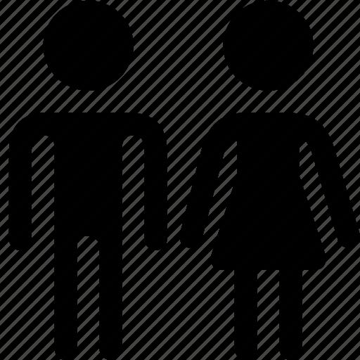 human, man, people, profile, sex, users, woman icon