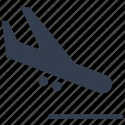 airplane, airport, arrivals, flight, plane icon