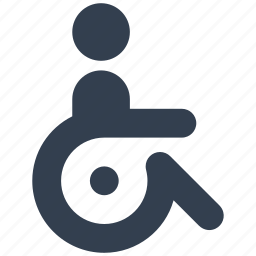 disable, healthcare, people, wheel, wheelchair icon