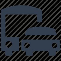 airport, bus, car, park, station, transportation icon