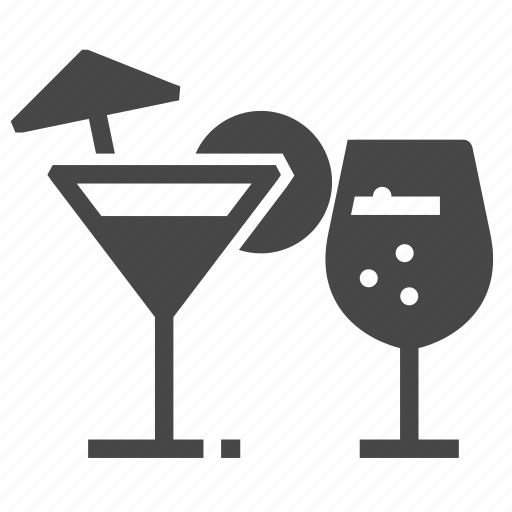 alcohol, cocktail, glass icon