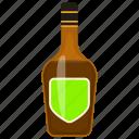 alcohol bottle, beer bottle, beverage, champagne, drink bottle, liquor bottle, wine icon