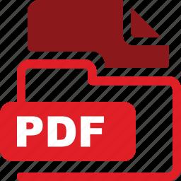 data format, filetype, pdf icon