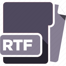 data format, filetype, rtf icon