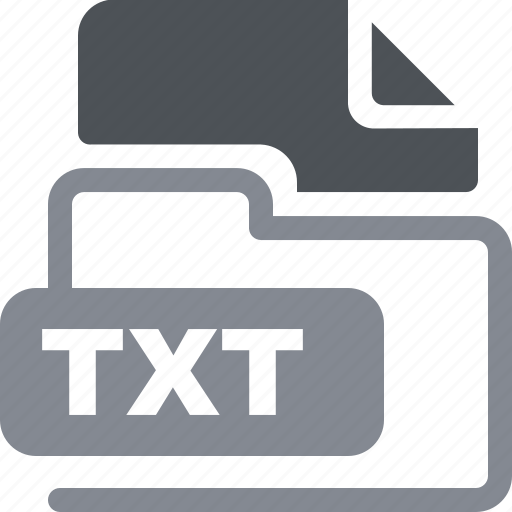 data format, filetype, txt icon