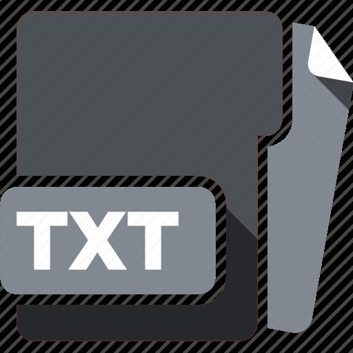 data format, filetype, txt icon