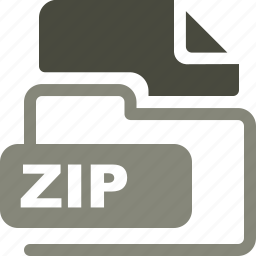 data format, filetype, zip icon