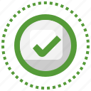 approval, correct, check, mark, approved, haken icon