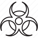 caution, chemical, danger, harmful, lethal icon