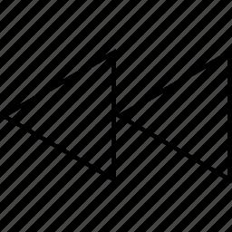 arrow, rewind icon