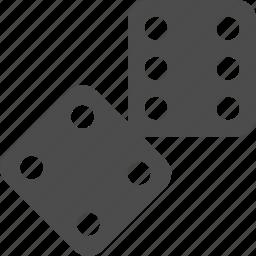 bones, casino, game, play icon