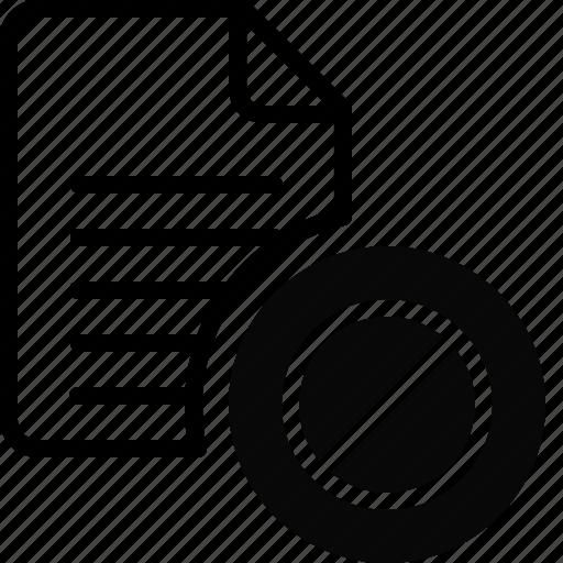 block, document, file, folder, lock, locked, stop icon