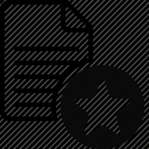 bookmark, document, favorite, file, files, folder, star icon