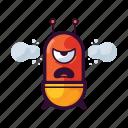 alien, angry, emoji, ufo