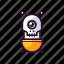 alien, emoji, robot, sceleton, ufo icon