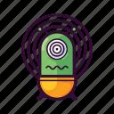 alien, disgusted, emoji, mesmerised, shocked, ufo icon