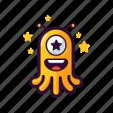 alien, emoji, famous, favorite, star, ufo icon