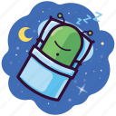 alien, bed, dream, emoji, sleep, space, ufo icon