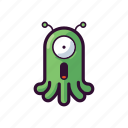 alien, emoji, omg, surprised, ufo icon
