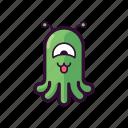 alien, cute, emoji, happy, smiley, ufo icon