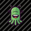 alien, emoji, fun, laugh, smile, ufo icon