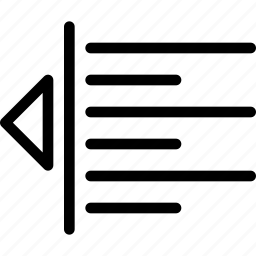 alignment, decrease, line-icon, margin, minus, paragraph, text icon