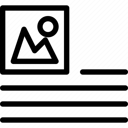 alignment, image, in, line, line-icon, paragraph, photo icon