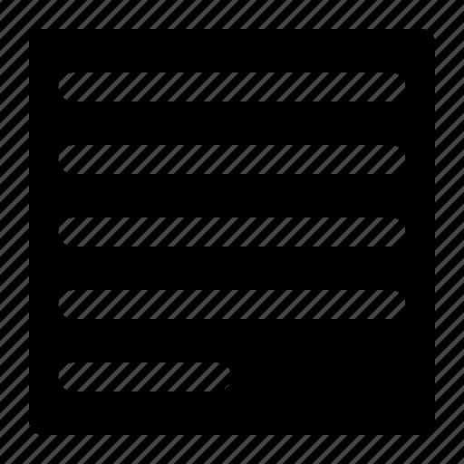 align, justify, left, paragraph icon