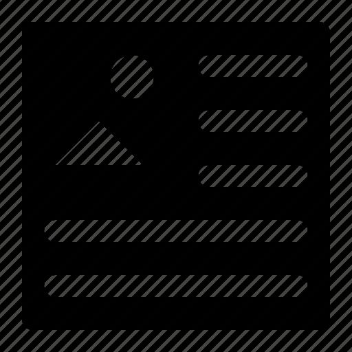 align, insert, left, picture icon