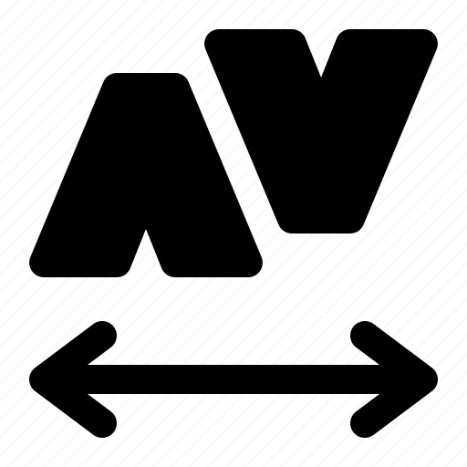 font, kerning, matrix, type icon