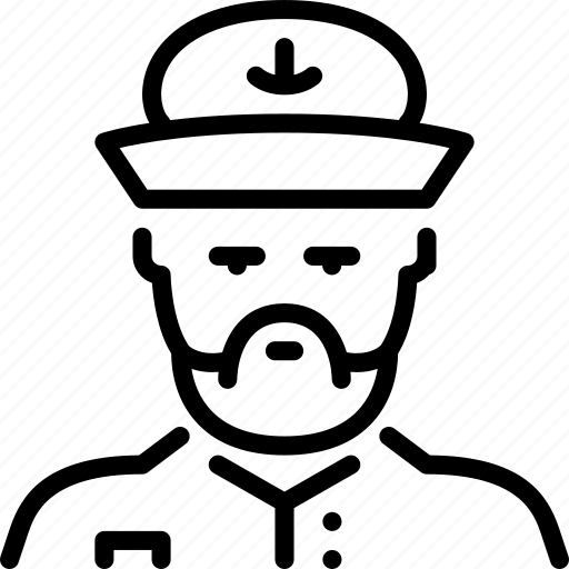 captain, marine, sailing, sea icon