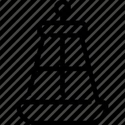floating cone, marine, marker, orientation, sailing, sea icon