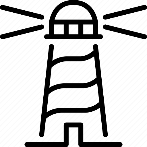 lighthouse, marine, orientation, sailing, sea icon