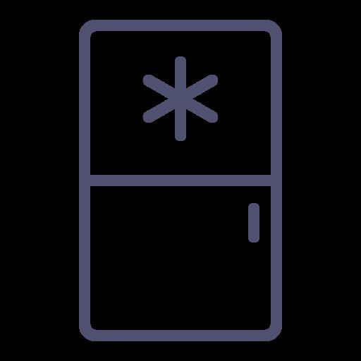 freezer, fridge, kitchen, refrigerator, snowflake icon