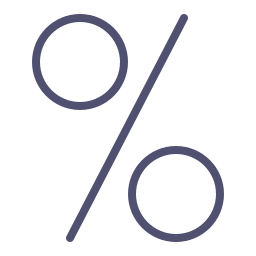 discount, finance, investment, percebtage, percent, sale, shop icon