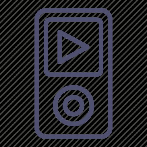 gadget, ipod, listen, music, play, player, sound icon