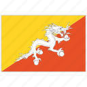 bhutan, bhutan flag, country, flag, national, national flag, world flag icon