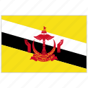 brunei, brunei flag, country, flag, national, national flag, world flag icon