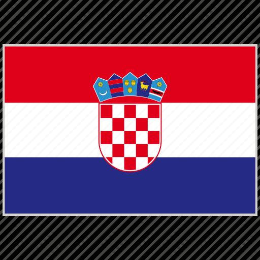 country, croatia, croatia flag, flag, national, national flag, world flag icon