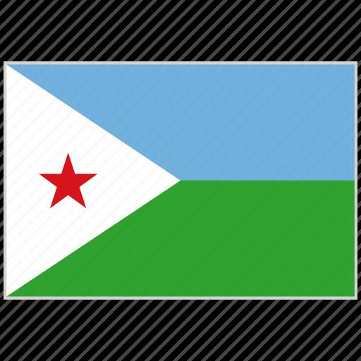 country, djibouti, djibouti flag, flag, national, national flag, world flag icon