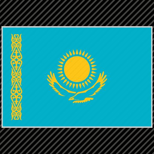 Country, flag, kazakhstan, kazakhstan flag, national, national flag, world flag icon - Download on Iconfinder