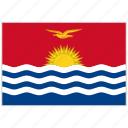 country, flag, kiribati, kiribati flag, national, national flag, world flag