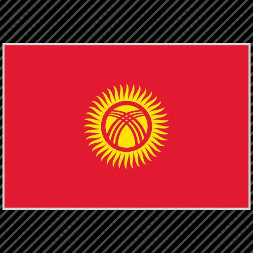 country, flag, kyrgyzstan, kyrgyzstan flag, national, national flag, world flag icon