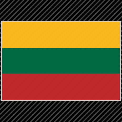 country, flag, lithuania, lithuania flag, national, national flag, world flag icon