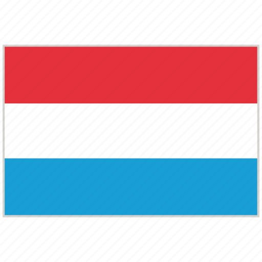 Country, flag, luxembourg, luxembourg flag, national, national flag, world flag icon - Download on Iconfinder